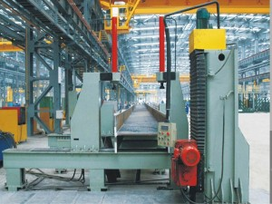 Automatic H and Box beam end face milling machine